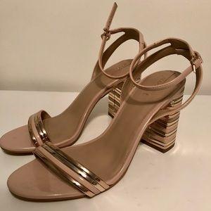 Aldo Shoes - Nude & Rose Gold Chunky Heels